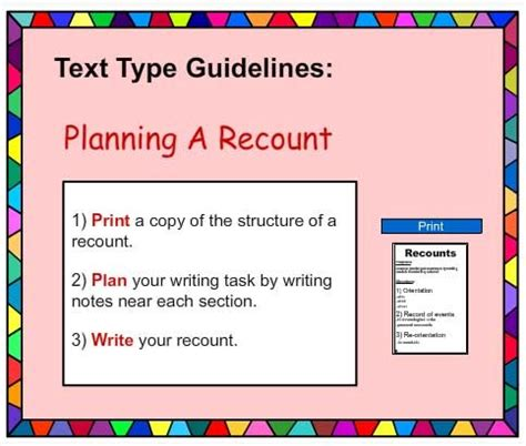 printable recount poster recount writing poster english skills online interactive