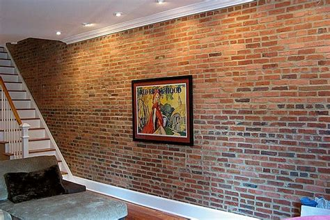 Interior Wall Brick Facing by Create An Exposed Brick Veneer Wall In Your Home How To