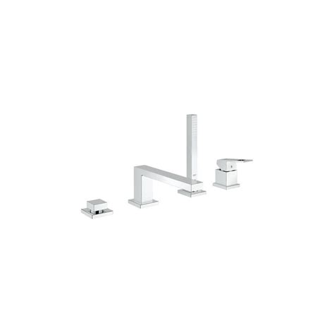 Grohe Eurocube Bathroom Faucet by Grohe 19897000 Starlight Chrome Eurocube Tub Filler
