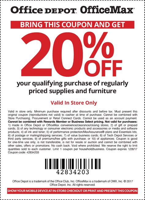 Office Depot Print Coupons Office Depot Coupons 10 50 And More At Office