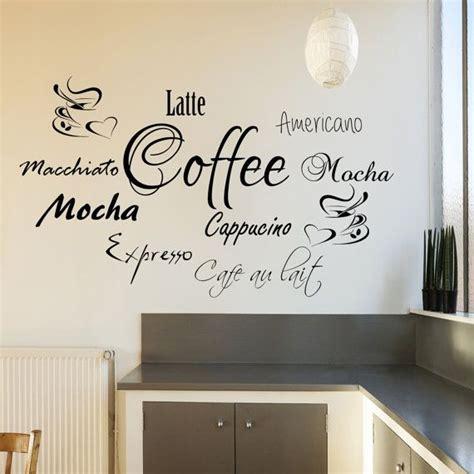 Unique Stiker Papan Tulis coffee word cloud for kitchen cafe transferencia de por