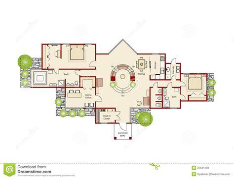 Maison Ideale Plan by Plan 224 La Maison Id 233 Al Illustration Stock Image Du Projet