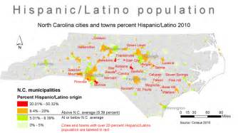 hispanics in n c big numbers in small towns unc