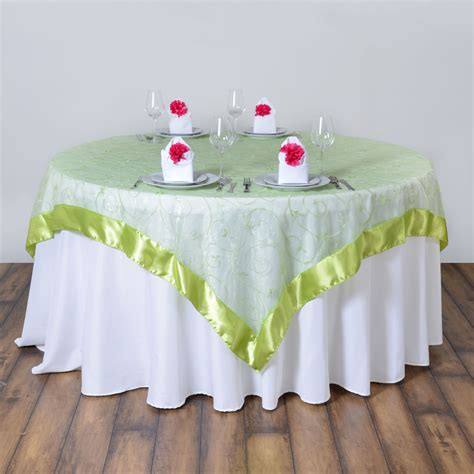 wedding table overlays embroidered sheer organza table overlays wedding