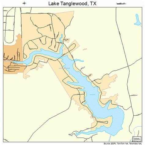 texas map with lakes lake tanglewood texas map 4840804