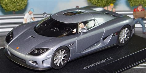 koenigsegg silver koenigsegg ccx in silver in 1 32 scale slot racing model