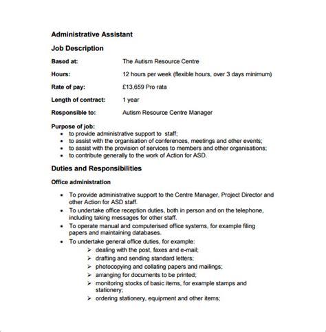dental assistant job description template 9 free word