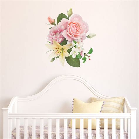 floral wall sticker vintage inspired floral wall sticker by oakdene designs