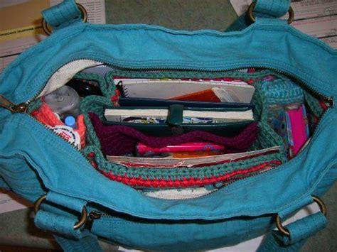 crochet pattern purse organizer organizer for inside purse diaper bag pattern great idea