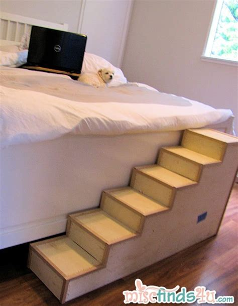 how to make yourself get out of bed diy pet stairs simple steps you can make yourself