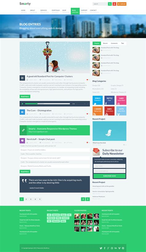 Smarty Responsive Retina Multi Purpose Theme On Behance Smarty Web Template