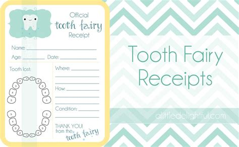 tooth receipt template editable free printable tooth templates rachael edwards