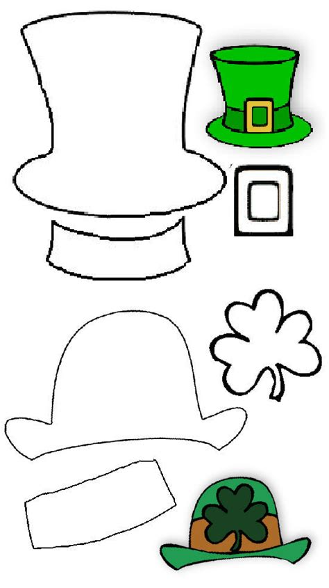 How To Make A Leprechaun Hat Out Of Paper - best photos of leprechaun crafts and templates