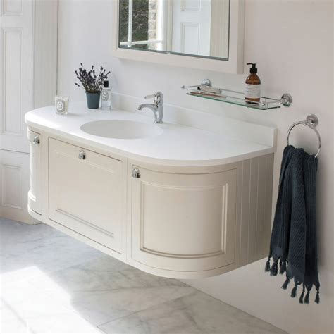 burlington 134 wall mounted vanity unit with worktop
