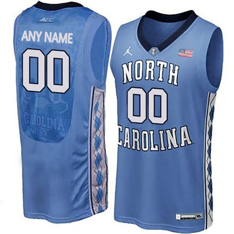 customized jersey ncaa basketball new north carolina tar heels blue men s customized college