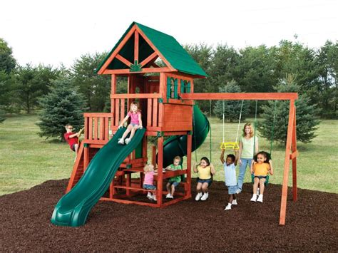 swing sets kmart lowe s playsets outdoor wooden swing sets on a budget