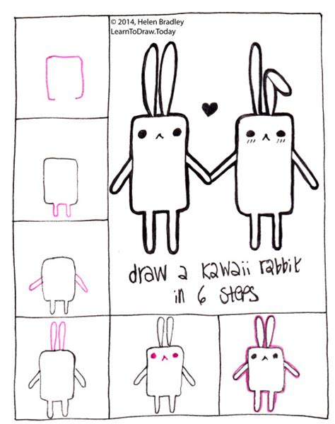 how to do doodle today easy kawaii drawings step by step
