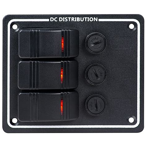 marine switch panel box marine switch panel with fuses wiring diagram and