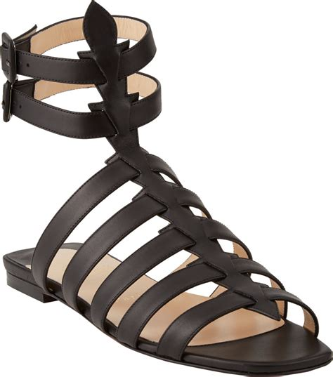 christian louboutin sandals christian louboutin neronna flat gladiator sandals in
