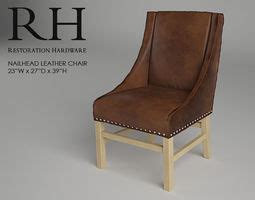 Restoration Hardware Nailhead Chair by A A 3d Designer Profile Cgtrader Cgtrader