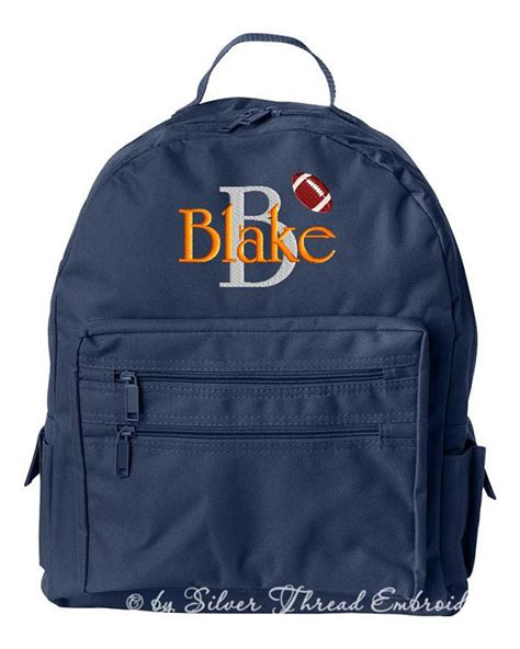 boys personalized backpack monogrammed initial name by