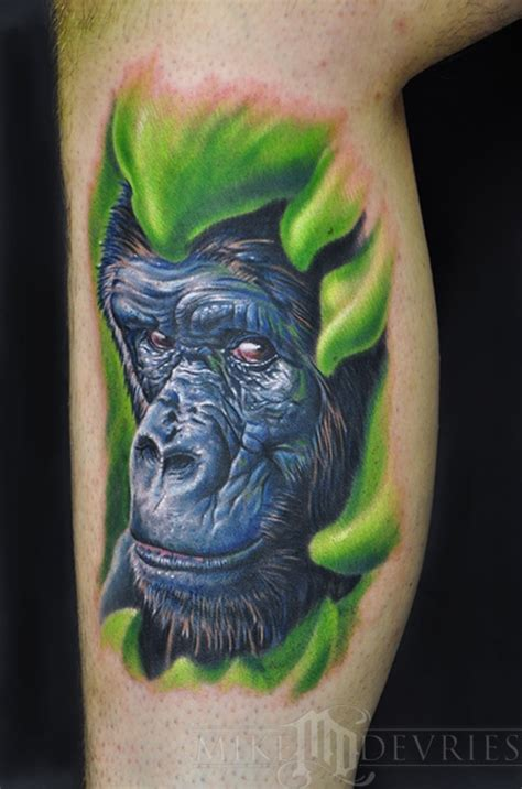 silverback gorilla tattoo mike devries tattoos animal gorilla