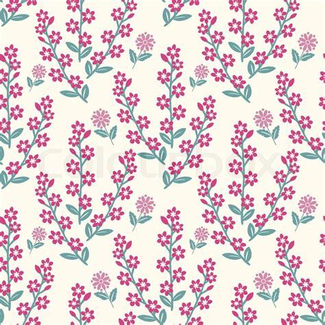Floral Light Pattren pink flowers pattern on light background stock vector