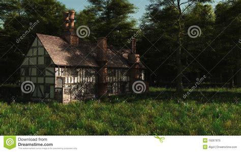 English Cottage Home Plans abandoned english manor house royalty free stock photo