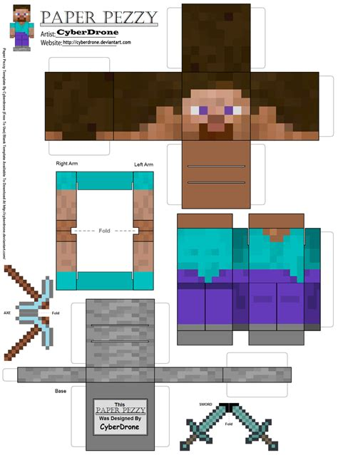 Minecraft Papercraft Cutouts - just the 6 of us minecraft birthday for the 8 year