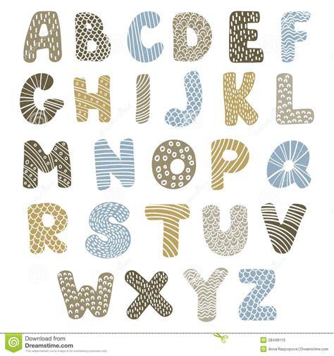 doodle alfabet doodle alphabet stock vector image of color doodle