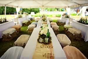 Straw bale seating for your wedding unconventional but not as