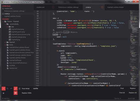 sublime text 3 minimal theme github orlmente theme asphalt minimal and flat dark ui