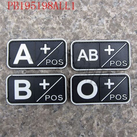 Rubber Pvc Patch Blood Type Ab Pos 1 luminous design blood type a b ab o pos slash 2 5cm 3d pvc patch in patches from home