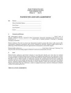 Lien Agreement Template california patient fee and lien agreement legal forms