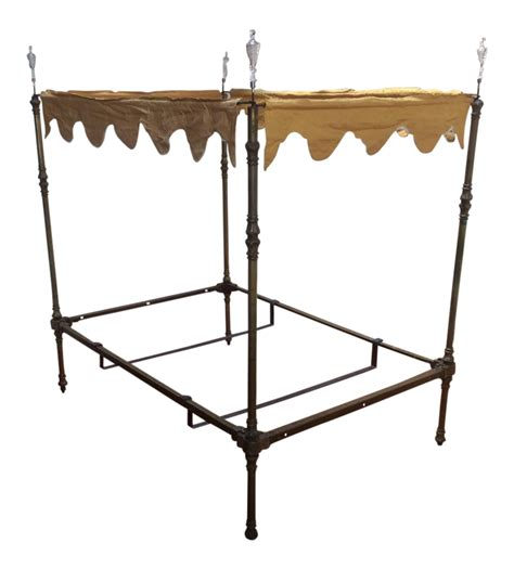 brass canopy bed four poster brass canopy bed chairish