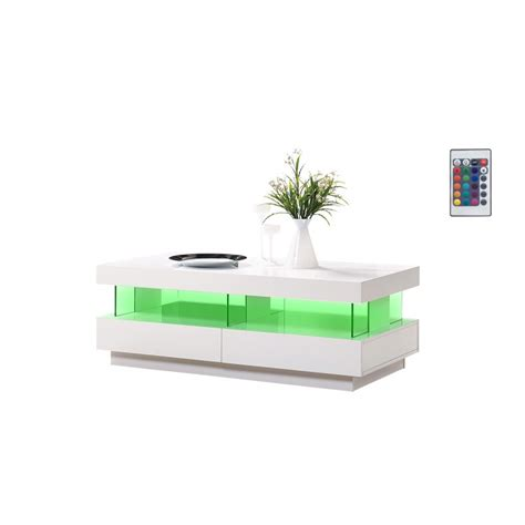 Amsterdam Gloss Coffee Table With Led Lights Sena Home Coffee Tables With Led Lights