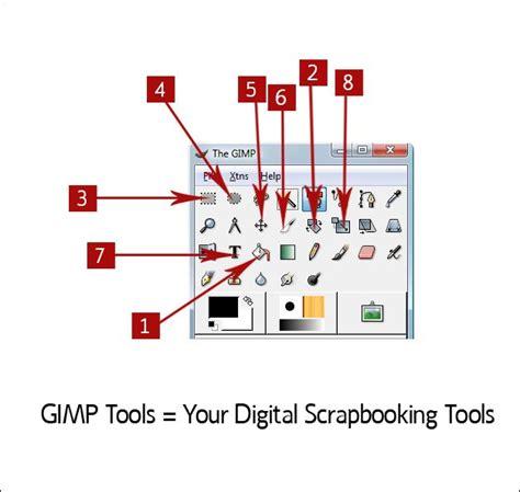 tutorial scrapbooking digital español gimp tutorial primeros pasos herramientas de gimp gimp