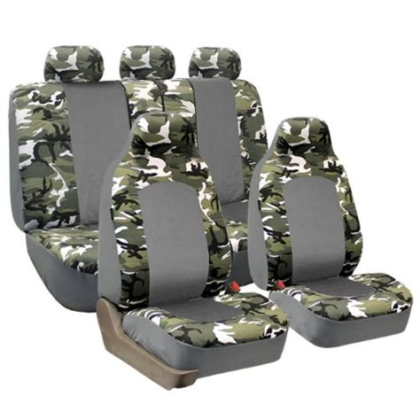 camo split bench seat covers comparamus fh fb108115 full set camouflage car seat