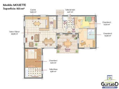 Cabinet D Architecture D Intérieur by Cuisine Maison De Plain Pied Avec Tour Centrale Mod 195 168 Le