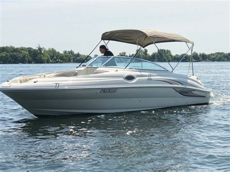 sea ray deck boat for sale ontario sea ray 240 sundeck 2002 used boat for sale in gananoque
