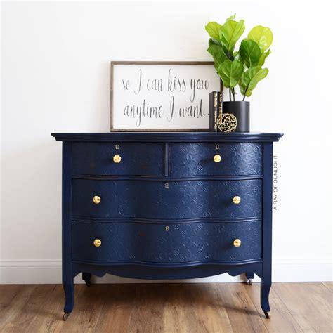 navy blue antique dresser sold navy blue dresser gold knobs antique furniture
