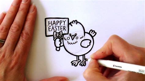 Kaos Bunny And Egg Basket Drawing how to draw a easter holding a happy easter