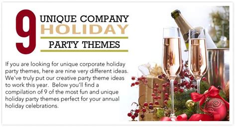 9 unique company holiday party themes