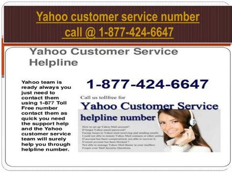 email of yahoo customer care ppt get instant customer service with helpline number 1