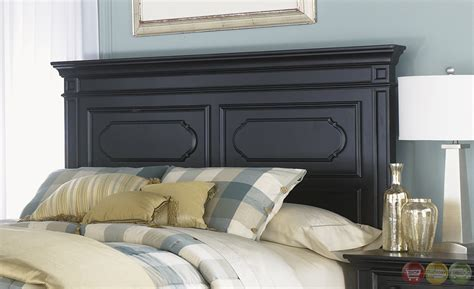 carrington bedroom furniture carrington ii transitional black finish panel bedroom set