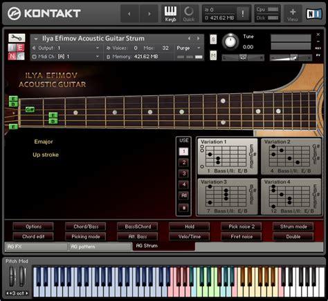 Sound Library Kontakt kvr ilya efimov the strum by ilya efimov production guitar
