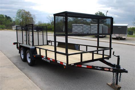 landscape trailer racks utility trailer