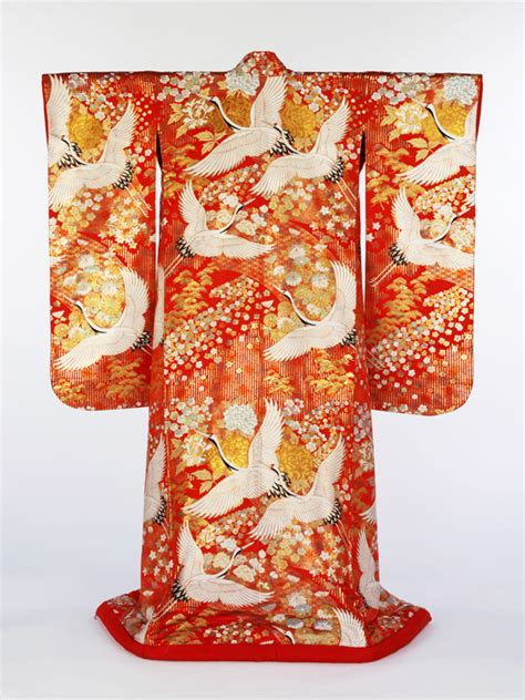 B585 Flower Pattern Kimono Outer japanese design themes and albert museum