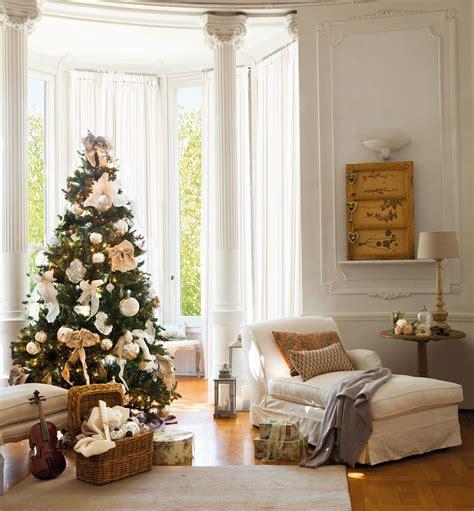 decorar salon en navidad ideas para decorar de navidad tu casa en dorado y blanco