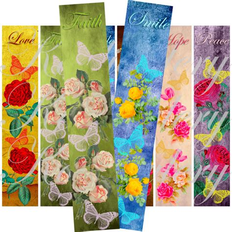 free printable bookmarks flowers 5 best images of vintage floral printable bookmarks free